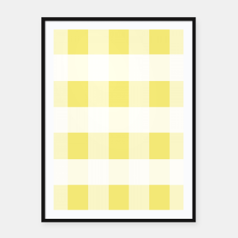 Miniatur Abstract geometric pattern - gold and white. Framed poster, Live Heroes
