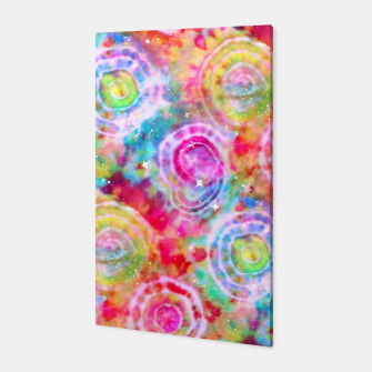 Thumbnail image of Rainbow Tie Dye Cosmos Canvas, Live Heroes