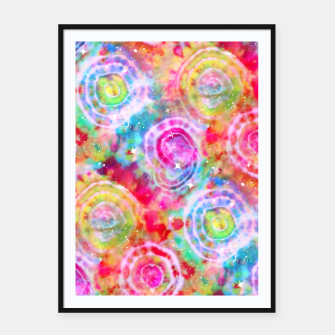 Thumbnail image of Rainbow Tie Dye Cosmos Framed poster, Live Heroes