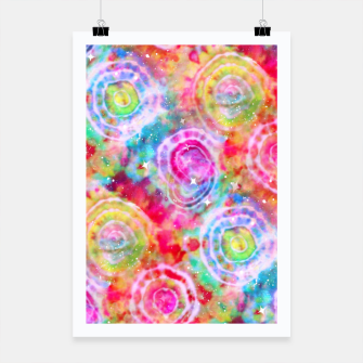 Thumbnail image of Rainbow Tie Dye Cosmos Poster, Live Heroes