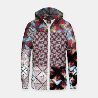 Thumbnail image of 5 square  Cotton zip up hoodie, Live Heroes