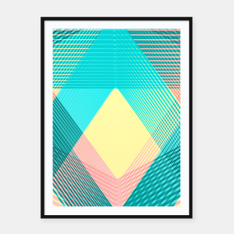 Miniatur Geometric Love I Framed poster, Live Heroes