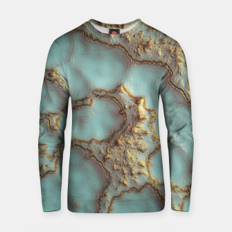 Thumbnail image of Aqua Coral Reef Abstract Cotton sweater, Live Heroes
