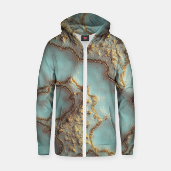 Thumbnail image of Aqua Coral Reef Abstract Cotton zip up hoodie, Live Heroes