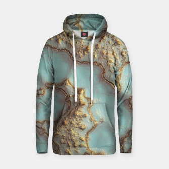 Thumbnail image of Aqua Coral Reef Abstract Cotton hoodie, Live Heroes