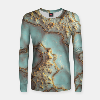 Thumbnail image of Aqua Coral Reef Abstract Woman cotton sweater, Live Heroes