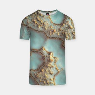 Thumbnail image of Aqua Coral Reef Abstract T-shirt, Live Heroes