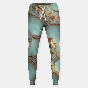 Thumbnail image of Aqua Coral Reef Abstract Cotton sweatpants, Live Heroes