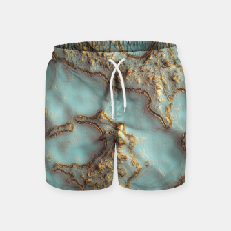 Thumbnail image of Aqua Coral Reef Abstract Swim Shorts, Live Heroes