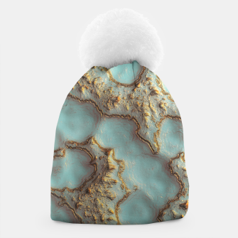 Thumbnail image of Aqua Coral Reef Abstract Beanie, Live Heroes