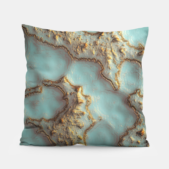 Thumbnail image of Aqua Coral Reef Abstract Pillow, Live Heroes