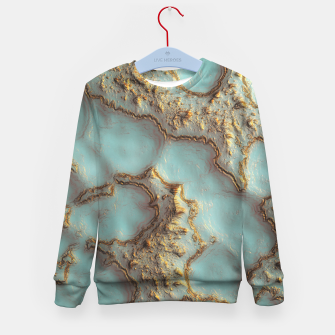 Thumbnail image of Aqua Coral Reef Abstract Kid's sweater, Live Heroes