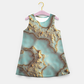 Thumbnail image of Aqua Coral Reef Abstract Girl's summer dress, Live Heroes