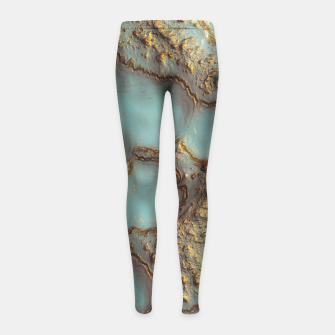 Thumbnail image of Aqua Coral Reef Abstract Girl's leggings, Live Heroes