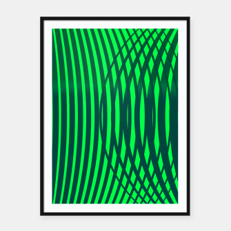 Miniatur Forest geometric Framed poster, Live Heroes