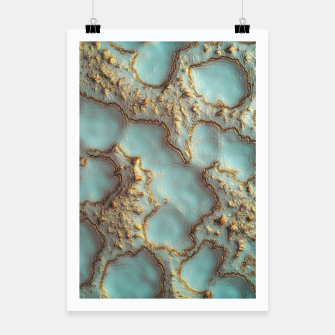 Thumbnail image of Aqua Coral Reef Abstract Poster, Live Heroes
