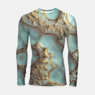 Thumbnail image of Aqua Coral Reef Abstract Longsleeve rashguard , Live Heroes