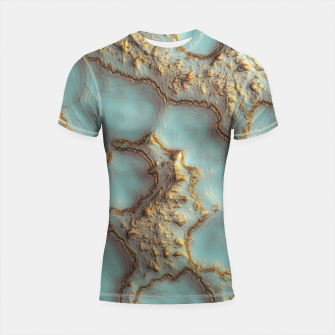 Thumbnail image of Aqua Coral Reef Abstract Shortsleeve rashguard, Live Heroes