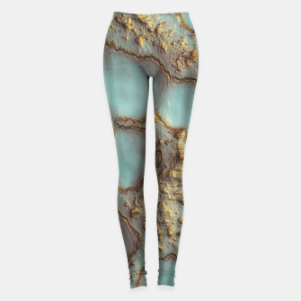 Thumbnail image of Aqua Coral Reef Abstract Leggings, Live Heroes