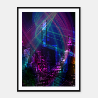Miniatur Neon City Framed poster, Live Heroes