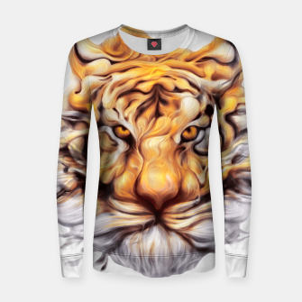Miniaturka Ink Tiger Woman cotton sweater, Live Heroes