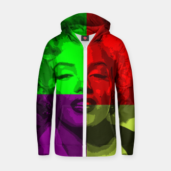 Thumbnail image of movie star Cotton zip up hoodie, Live Heroes