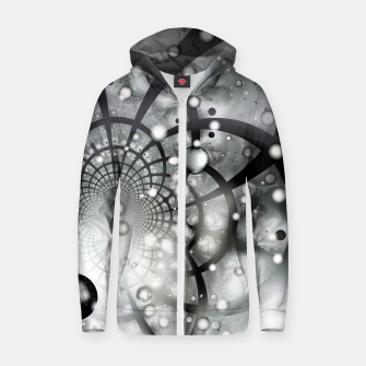 Galactic Web Of Chaos Cotton zip up hoodie thumbnail image