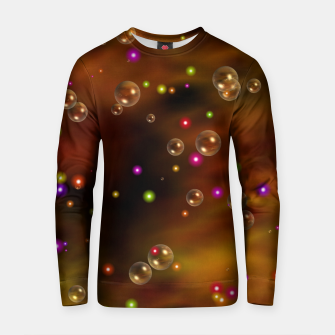 Thumbnail image of Golden Bubbles In The Mist Of Gold Clouds Cotton sweater, Live Heroes
