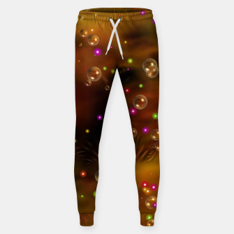 Thumbnail image of Golden Bubbles In The Mist Of Gold Clouds Cotton sweatpants, Live Heroes