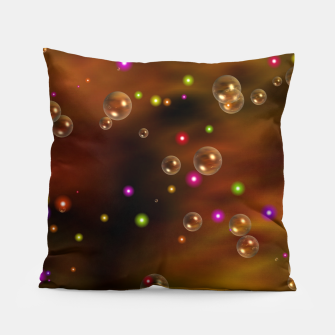 Thumbnail image of Golden Bubbles In The Mist Of Gold Clouds Pillow, Live Heroes