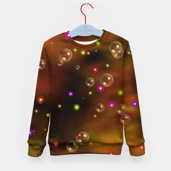 Thumbnail image of Golden Bubbles In The Mist Of Gold Clouds Kid's sweater, Live Heroes