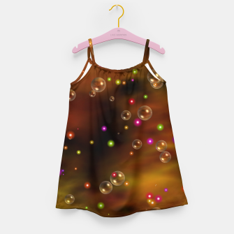 Thumbnail image of Golden Bubbles In The Mist Of Gold Clouds Girl's dress, Live Heroes