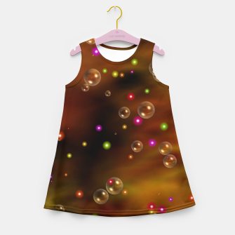 Thumbnail image of Golden Bubbles In The Mist Of Gold Clouds Girl's summer dress, Live Heroes