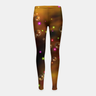 Thumbnail image of Golden Bubbles In The Mist Of Gold Clouds Girl's leggings, Live Heroes