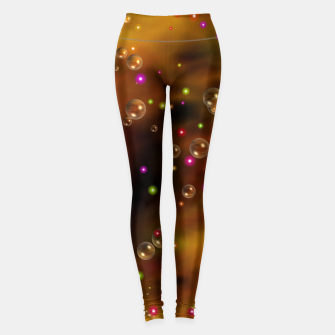Thumbnail image of Golden Bubbles In The Mist Of Gold Clouds Leggings, Live Heroes
