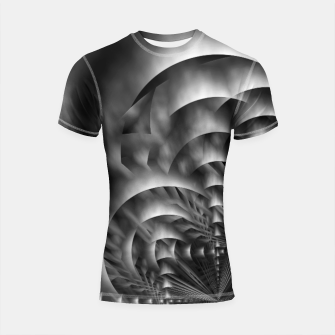 Thumbnail image of Convoluted Forms Of The Particle Ring Tunnel Shortsleeve rashguard, Live Heroes