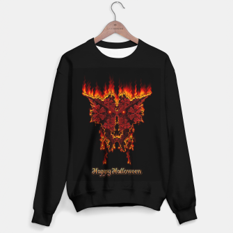 Red Halloween Fractal Fire Demon Sweater regular thumbnail image