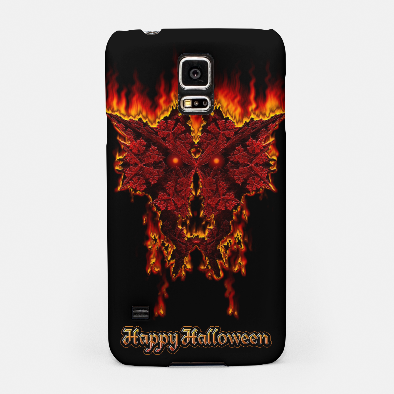Image of Red Halloween Fractal Fire Demon Samsung Case - Live Heroes