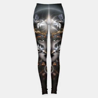 Thumbnail image of Goddess Of The Black Moon V3 Leggings, Live Heroes