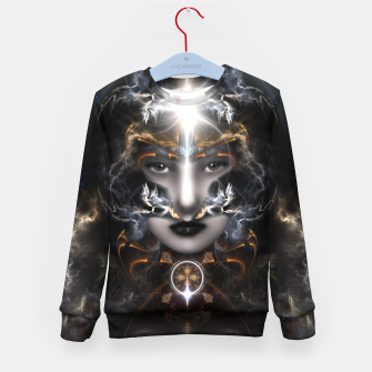 Thumbnail image of Goddess Of The Black Moon V3 Kid's sweater, Live Heroes
