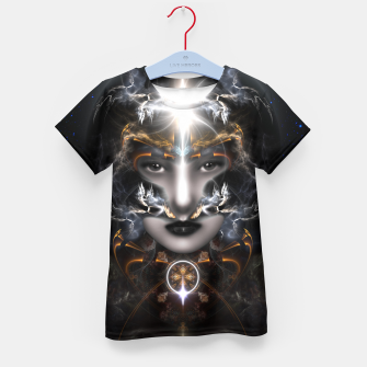 Thumbnail image of Goddess Of The Black Moon V3 Kid's t-shirt, Live Heroes