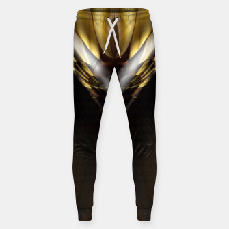 Thumbnail image of Carved Tubular Spears Cotton sweatpants, Live Heroes