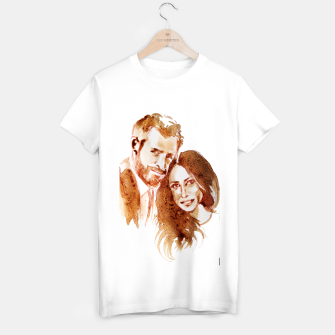 Thumbnail image of Meghan Harry coffee wedding ctr by yulia a korneva T-shirt regular, Live Heroes