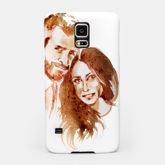 Thumbnail image of Meghan Harry coffee wedding ctr by yulia a korneva Samsung Case, Live Heroes