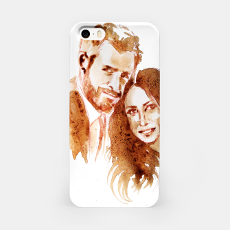 Thumbnail image of Meghan Harry coffee wedding ctr by yulia a korneva iPhone Case, Live Heroes
