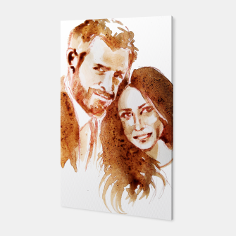 Thumbnail image of Meghan Harry coffee wedding ctr by yulia a korneva Canvas, Live Heroes