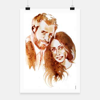Thumbnail image of Meghan Harry coffee wedding ctr by yulia a korneva Poster, Live Heroes