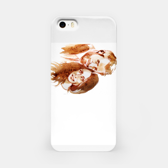 Thumbnail image of Meghan Harry coffee wedding lft by yulia a korneva iPhone Case, Live Heroes