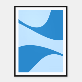 Miniatur Abstract blue Framed poster, Live Heroes