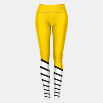 Miniature de image de Paint yellow sun Leggings, Live Heroes